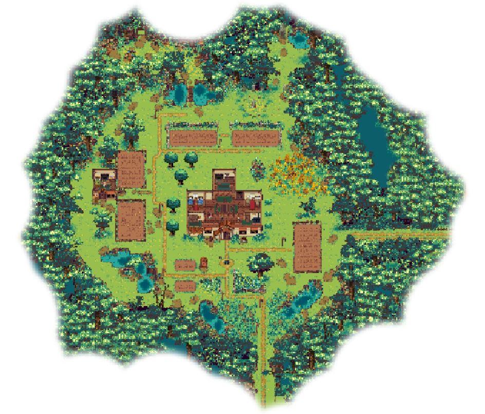 Cowpat Farmのローカルマップ