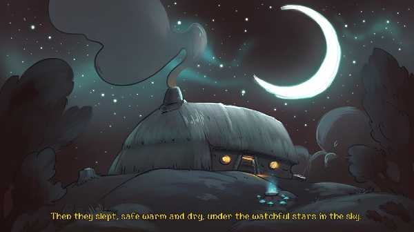Then they slept, safe warm and dry, under the watchful stars in the sky.