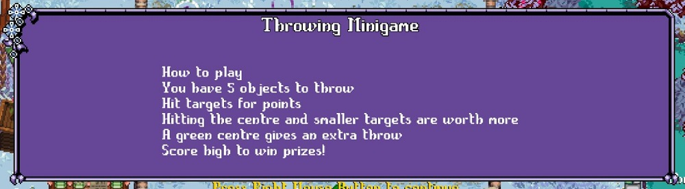 Throwing Minigame